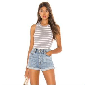 Free People Purple Striped Fired Up Tank
